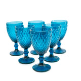 Royalclub Vintage 300ml Glass Goblets 6pcs set