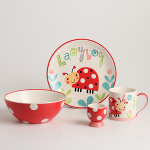 Royalclub 4 Piece Cute Nature Kid's Breakfast Set