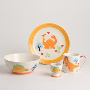 Royalclub 4 Piece Dinosaur Kid's Breakfast Set