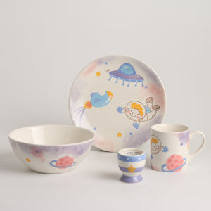 Royalclub 4 Piece Big Dream Kid's Breakfast Set