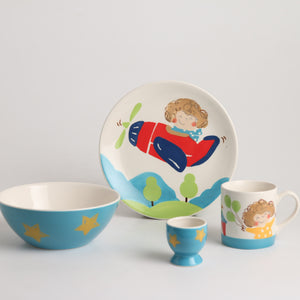 Royalclub 4 Piece You Can Fly Kid's Breakfast Set