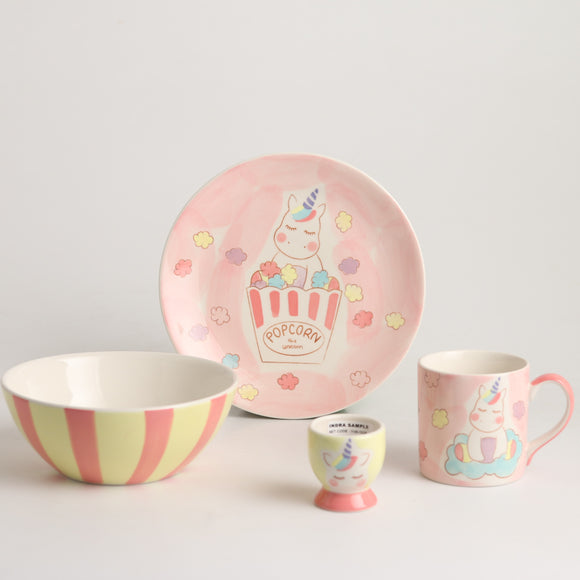Royalclub 4 Piece Popcorn Kid's Breakfast Set