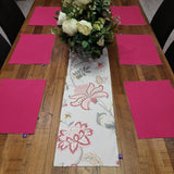 "Royalclub ""Pink Barron"" dual sided Table Runner"