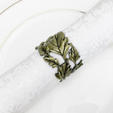 Royalclub Leaf Napkin Ring set of 4