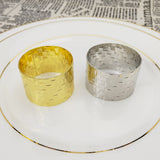 Royalclub Indented Woven Napkin Ring set of 6