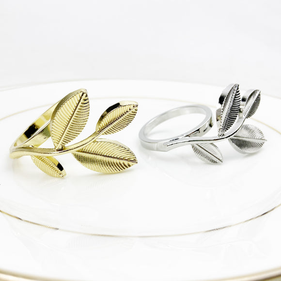 Royalclub New Leaf Napkin Ring set of 6