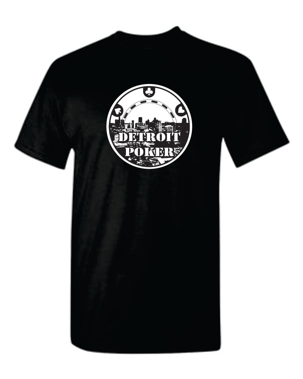 Detroit Poker T-shirt in black