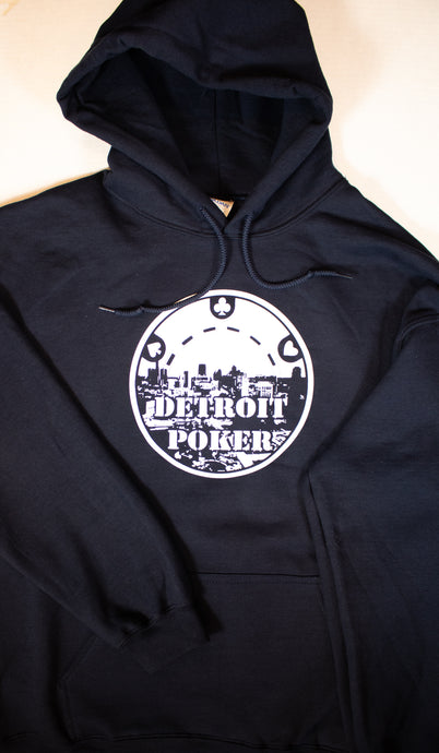 Detroit Poker Hoodie in Navy Blue