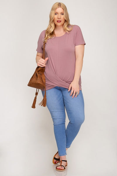 Plus Size Top With Front Twist