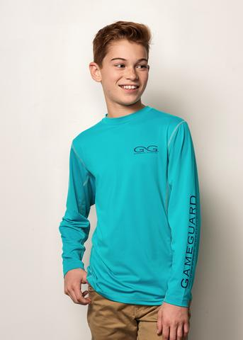 GameGuard Youth Performance Tee Branded Long Sleeve - Caribbean