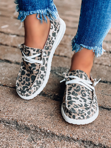 Holly Leopard Slip On Sneakers