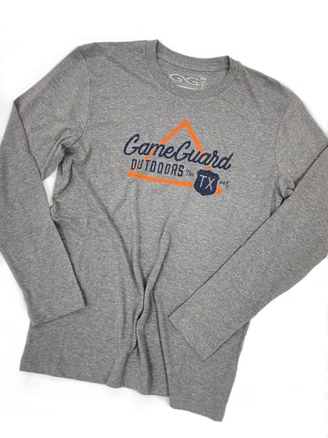 GameGuard Heather Gray Long Sleeve Graphic Tee