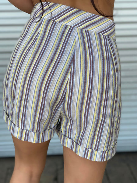 Haven Yellow Striped Shorts
