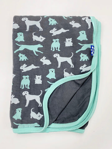 Kickee Pant Dogs Swaddle Blanket
