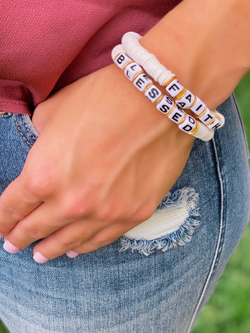 Color Pop Word Bracelets- All Colors