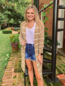 Southern Sunsets Striped Cardigan