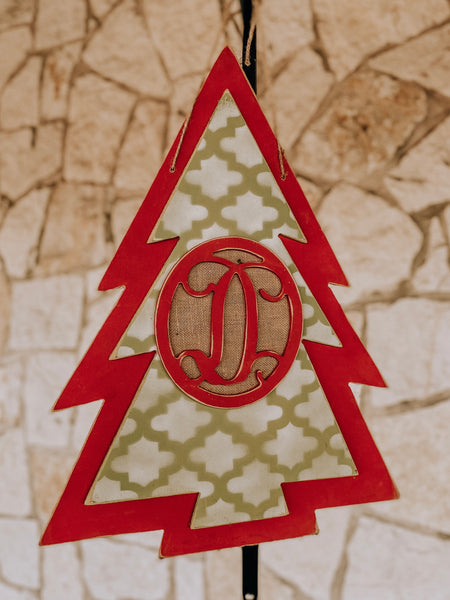Christmas Tree Decor- Hanging Initial Tree