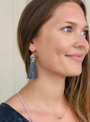 Hay's Tassel Earrings- Snake
