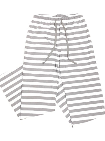 Grey Striped Pajama Pants