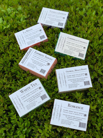 Simplified Pure Goat Milk Soap Bars