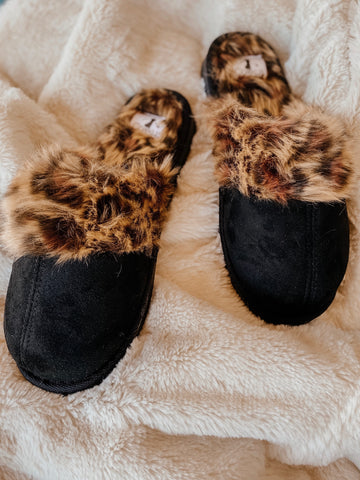 Snooze Black Slip Ons