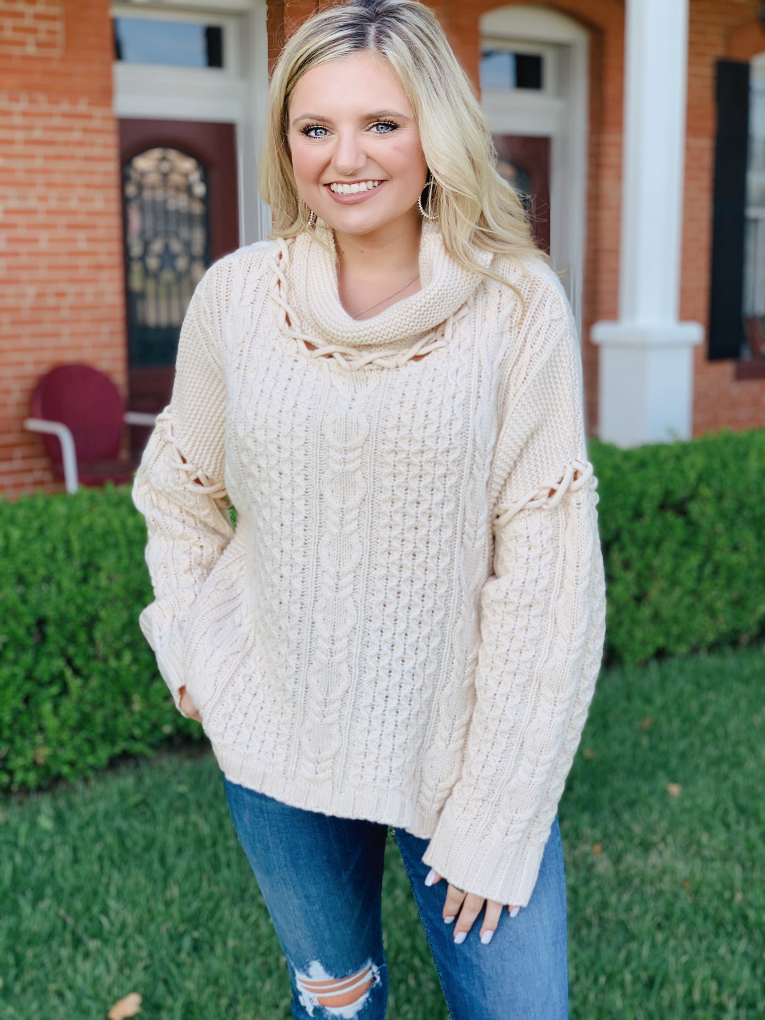 Textured Ivory Sweater
