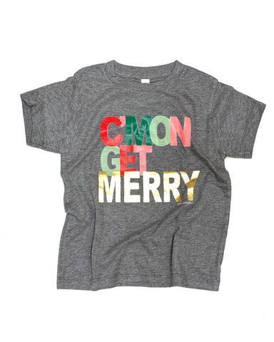 C'mon Get Merry Kids Graphic Tee