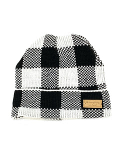 Buffalo Plaid Beanie- Black