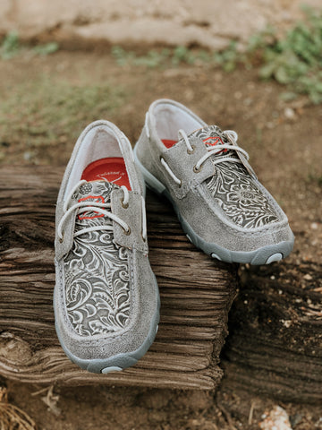 Twisted X Driving Moc- Grey Tooled
