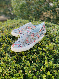 Kid's Blowfish Sneakers- Gray Floral