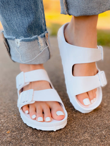 Summer Fun Waterslide Sandals- White