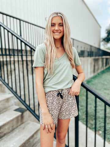 Speckled Sleep Shorts