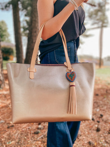 Rose Metallic Big Breezy Tote