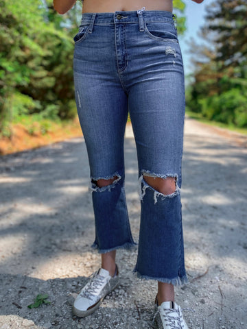 Maya High Rise Straight Jeans