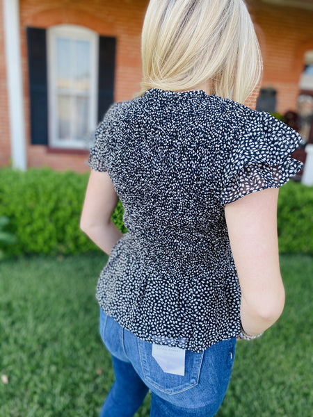 Speckled Ruched Top