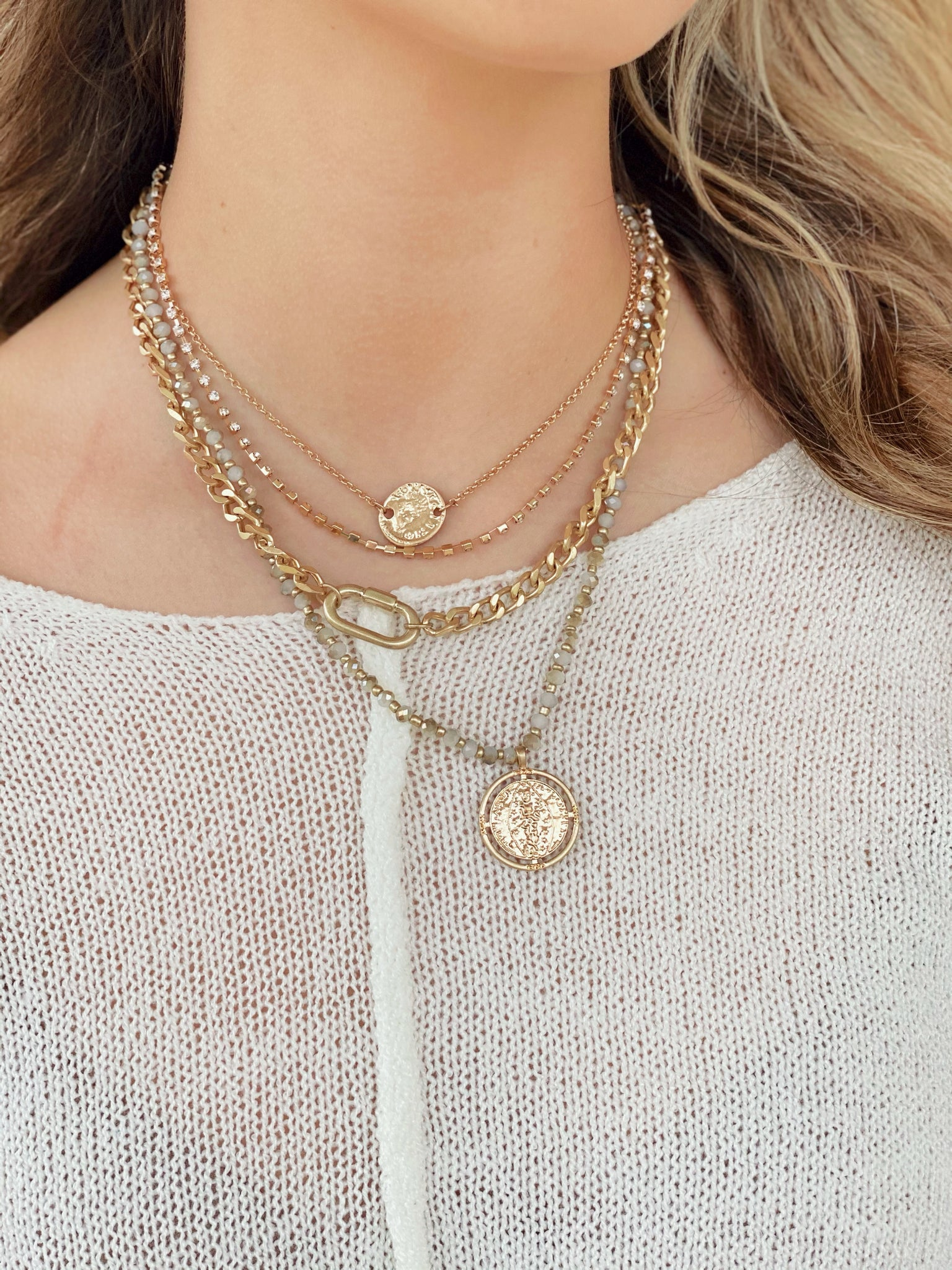Jewel Coin Necklace