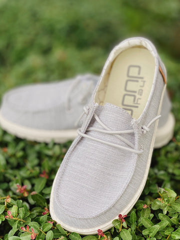 Hey Dude Wendy Youth- Linen Grey