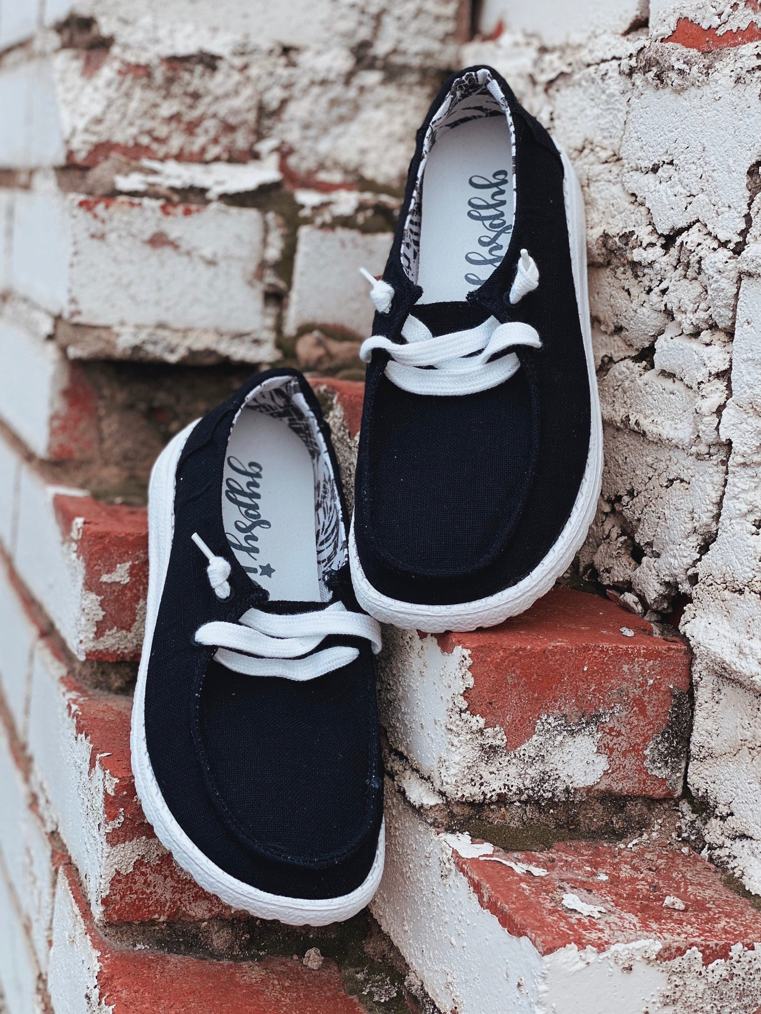Holly Black Slip On Sneakers
