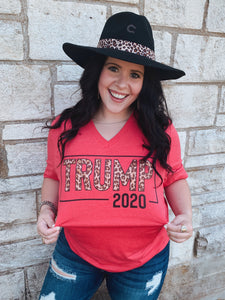 Leopard Trump 2020 Graphic Tee- Kid's & Women's