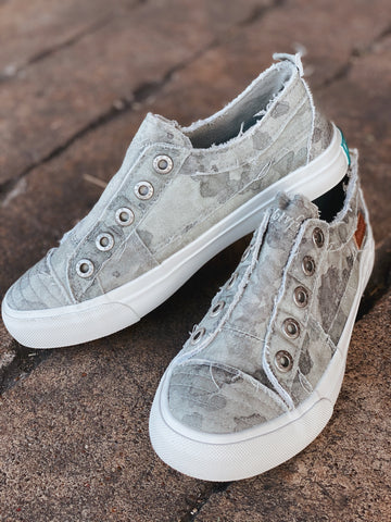 Gray Splatter Blowfish Sneakers