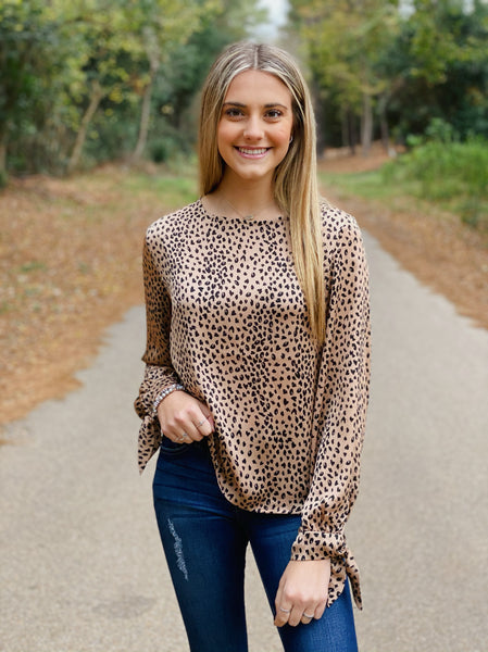 Speckled Satin Top