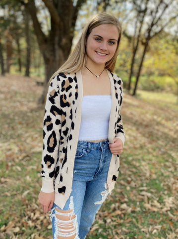 Wild And Free Leopard Cardigan