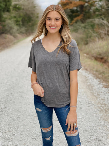 Taylor V-Neck Tee- All Colors