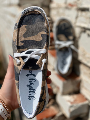 Hooray Camo Slip On Sneakers