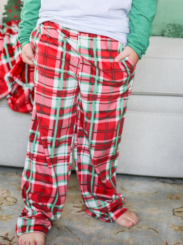 Youth Alpine Plaid Flannel Sleep Pants