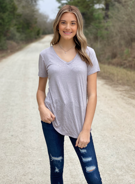 Megan V-Neck Tee- All Colors