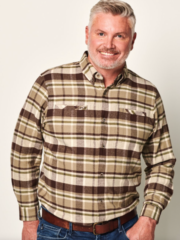 GameGuard Flannel Long Sleeve- Mesquite