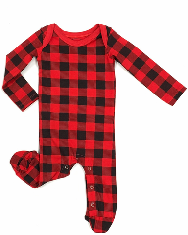 Buffalo Plaid PJ Onesie