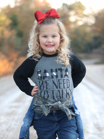 Santa We Need To Talk Kids Graphic Tee