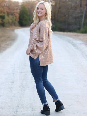Long Sleeve Shimmer Sweater